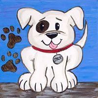 "Pre-Teen Class ""Playful Pup"" Summer 2015 @ Charity Wings Art Center with Deco Art Paint"