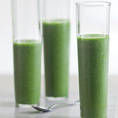 Green Smoothie   Bananas, apple or pear, kale, orange juice, and flax. Would maybe add protein powder or yogurt to make a complete breakfast!