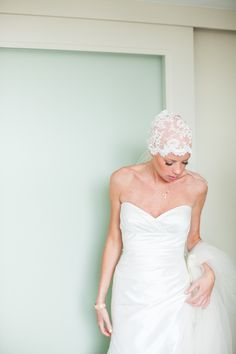 Bride battling cancer proves bald is beautiful! | Photography: Andrea Jacobson For The Observatory - observatoryphoto.com  Read More: http://www.stylemepretty.com/2014/05/12/courageous-bride-proves-bald-is-beautiful/