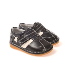 Caroch   Star   Boys Black Sneakers Caroch genuine leather boys Star Sneakers in quality black leather with a cool white star feature.