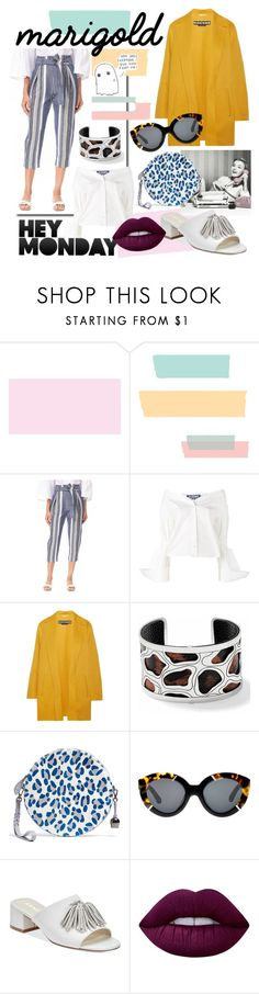 """Hey monday"" by no-face-fashion ❤ liked on Polyvore featuring Parker, Jacquemus, Rochas, Brighton, Karen Walker, Anne Klein and Lime Crime"