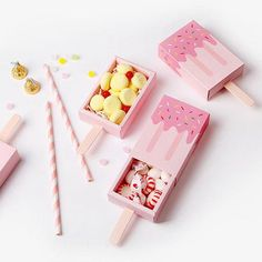 Pink Ice Cream Shape Cute Gift Box Popsicle Candy Folding Paper Box Cartoon Drawer Gift Box For Kids Baby Shower Birthday Pink Ice Cream Shape Cute Gift Box Popsicle Candy Folding Paper Box Cartoon Drawer Gift Box Fo Cute Gift Boxes, Diy Gift Box, Diy Box, Cute Gifts, Diy Gifts, Favor Boxes, Diy Paper Box, Cute Box, Paper Gift Box