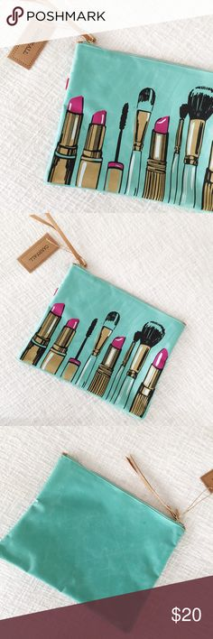 NWT Turquoise Lipstick Makeup Bag Brand new NWT Turquoise Lipstick Makeup Bag - never used! No trades. Xoxo 💕 Bags Travel Bags