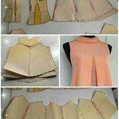 Ideas For Dress Pattern Free Sewing Moda Dress Sewing Patterns, Blouse Patterns, Clothing Patterns, Pattern Dress, Fashion Sewing, Diy Fashion, Ideias Fashion, Dress Fashion, Costura Fashion