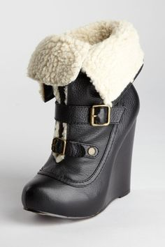 Betsey Johnson  Ryder Shearling Lined Buckled Ankle Boot