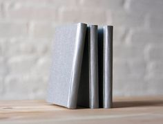 Silver Acrylic Coated Hardcover Notebook for Small by knotbooks