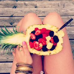 Everything tastes so much better out of a pinapple