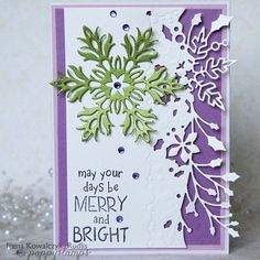 Poppystamps Blog : Wintergreen Border die