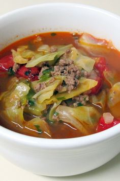 Racheal Ray: Stuffed Cabbage Stoup at Food Network..... Use tempeh and veg stock to make #vegan