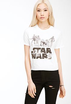 Star Wars Graphic Boxy Tee | FOREVER21 - 2000079054 I've been waiting for F21 to have a SW shirt for women.