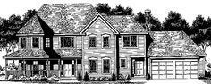 Home Plans HOMEPW73750 - 3,139 Square Feet, 4 Bedroom 2 Bathroom Country Home with 2 Garage Bays
