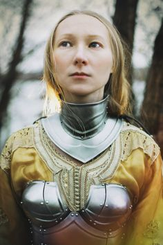 Steel Gorget of Female Armor Queen of the Lake by IronWoodsShop