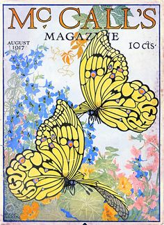 Dugald Walker cover for Mc Calls magazine from 1917. Art forms on the cover pages. http://www.magazinedesigning.com/vintage-and-modern-cover-art-forms/