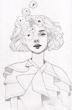 Pink Eye Sketch by KelseyBeckett on DeviantArt