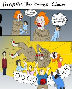 Pennywise The Savage Clown by TheSaneIsCounting.deviantart.com on @DeviantArt IT fanart