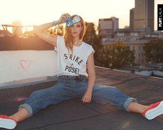 Asia Piwka w kampanii PLNY LALA jesień 2015 / fot. Łukasz Ziętek