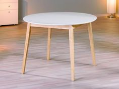 Esstisch Peppita 100 cm Ø Ausf. weiß / Birke, 120 Euro