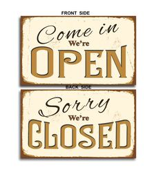Open Closed Sign Vintage style Open Closed by ClassicMetalSigns