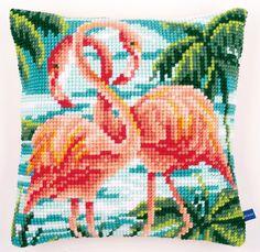 #crossstitch #cushion #vervaco #flamingo #diy