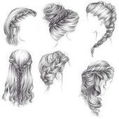 - My list of the most creative hairstyles Cool Art Drawings, Pencil Art Drawings, Art Drawings Sketches, Girl Hair Drawing, Hair Sketch, Hair Reference, How To Draw Hair, Drawing Techniques, Hair Art