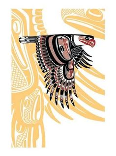 Eagle Nation: Coast Salish Artist: Todd Baker - The Native American's Art Arte Inuit, Arte Haida, Haida Art, Inuit Art, Arte Tribal, Tribal Art, Illustrations, Illustration Art, Native American Symbols