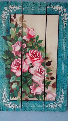 Pallet de caixote de feira , pintura com stencil OPA baseado no projeto da Mayumi Takushi:
