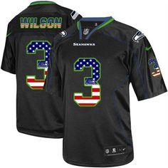 Seahawks Kam Chancellor jersey Nike Seahawks #3 Russell Wilson Black Men's Stitched NFL Elite USA Flag Fashion Jersey Jason Pierre-Paul jersey Corey Davis jersey