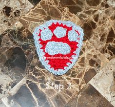 Paw Patrol Badge---do gray and white