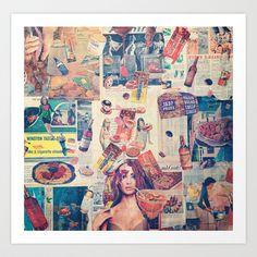 Snacks Art Print by Katy Hirschfeld - $18.00