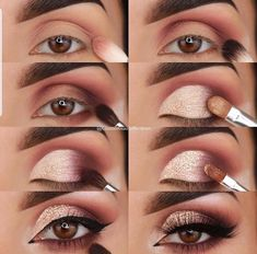23 Pure Smokey Eye Make-up Make You Sensible eye make-up tutorial; eye make-up for brown eyes; eye make-up pure; Eye Makeup Tips, Skin Makeup, Eyeshadow Makeup, Makeup Ideas, Makeup Inspo, Drugstore Makeup, Makeup Products, Easy Eyeshadow, Easy Eye Makeup