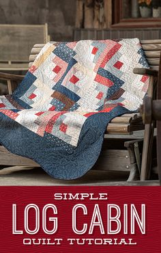 Join Jenny Doan as she stitches up a Simple Log Cabin quilt! This beautiful, classic pattern is inspired by the first quilt block she ever created! Follow the link to watch the FREE quilting tutorial now! #MissouriStarQuiltCo #SimpleLogCabinQuilt #LogCabinQuilt #StripQuilt #Quilting #QuiltingDesigns #BeginnerQuiltPatterns #EasyQuiltsForBeginners #SewingIdeas #HowToQuilt #QuiltTutorial Beginner Quilt Patterns Free, Star Quilt Patterns, Quilting For Beginners, Quilting Tutorials, Quilting Designs, Quilting Tips, Quilting Projects, Log Cabin Quilt Pattern, Log Cabin Quilts
