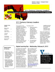 MD IRA Council's Literacy Leaders Newsletter by Sheron Brown via Slideshare What Is Close Reading, Classroom Posters, 21st Century, Literacy, Acting, University, Teaching Ideas, Brown, Brown Colors