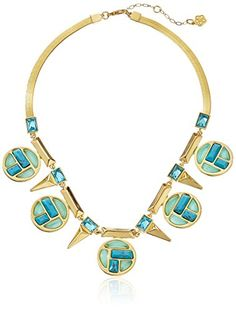 Trina Turk Gold-Plated Medallion Necklace,