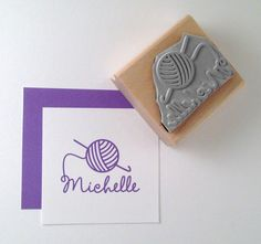 Crochet Personalized Rubber Stamp by cupcaketree on Etsy, $10.50