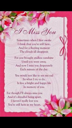 I Miss You Mother and Daddy ! Grief Poems, Mom Poems, Mom Quotes, Missing Quotes, Brother Poems, Daughter Poems, Mom In Heaven Quotes, Heaven Poems, Grandmother Quotes