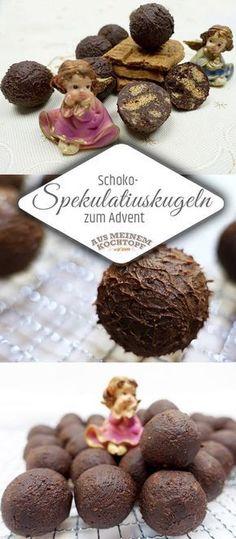 Aus Spakulatius und Schokolade machen wir himmlische, kleine Schoko-Spekulatiuskugeln. #advent #weihnachten #spekulatius #spekulatiuskugeln