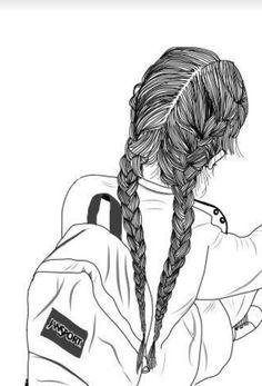black and white, follow me, follow my tumblr, girl, outline