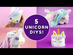 5 UNICORN DIYS YOU HAVE TO TRY! | DIY Unicorn School Supplies & Unicorn Room Decor - YouTube