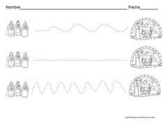 Material de Isaac para Educacion Especial: Dibujos para pintar de Navidad y felicitaciones Christmas Worksheets, Kings Day, Activity Sheets, Bridal Shower Favors, Kids Christmas, Sunday School, Easy Drawings, Nativity, Diy And Crafts