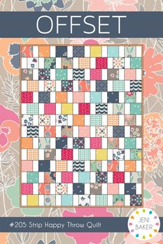 Quilting Image of Offset Quilt PAPER Pattern - Prefer a digital copy? This sweet quilt comes together in a flash with easy strip piecing. This mini pattern. Charm Pack Quilt Patterns, Charm Pack Quilts, Charm Quilt, Beginner Quilt Patterns, Quilt Patterns Free, Beginner Quilting, Paper Patterns, Card Patterns, Strip Quilts