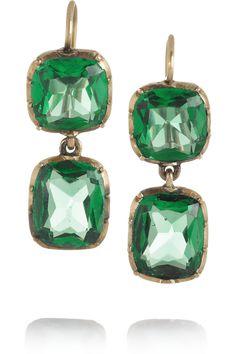 Olivia Collings 1830s 18-karat gold cabochon earrings