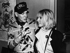 """Cheap Trick's Rick Nielsen & Blondie's Debbie Harry circa 1980 at the premier of """"Roadie."""""""