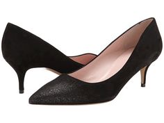 Kate Spade New York Melanie Black/Gold Glitter Suede - Zappos Couture
