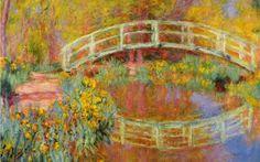 Claude Monet é o pai do impressionismo. Seus quadros são lindos, com cores suaves e uma luz incrível. A Ponte Japonesa (1895) faz parte de uma de suas séries mais famosas de pintura.