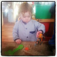 First day at playschool #happy #allgrownup