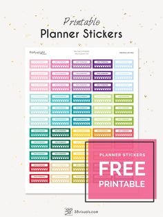 """Free Printable Planner Stickers: """"Stay Hydrated"""" Set   It's always a good idea to keep track of your water intake to stay healthy. These stickers are here to help you remember in a fun way!"""