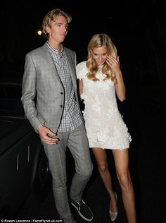 Poppy Delevingne made the most of her custom-made Chanel bridal gown as she removed the sheer fabric attached to it for the wedding ceremony in order to reveal a lacy mini dress.  (May 2014)