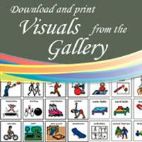 A Geneva Centre site that offers free downloadable visuals gallery which includes templates for volume meter, first/then boards, token boards, schedule strips, etc. These visuals can be downloaded and printed for immediate use.
