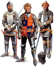 """Battle of Agincourt, 25 October 1415"" • Thomas, Lord Camoys, KG • King Henry V • William Phelipp, Lord Bardolph, KG"