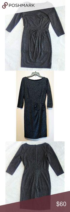 hot sale online 90a42 940c7 David Meister Leopard Print Dress sz 8 David Meister dress Leopard print  Gray  Black Bow